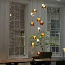 led pendelle glas bunt 1 flammig im esszimmer