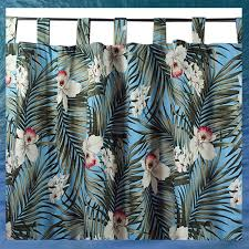 Tropical Window Art Curtains by Tropical Window Treatment By Dean Miller