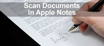 How to scan documents with the Apple Notes app on the iPhone
