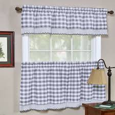 Window Art Tier Curtains And Valances by Buffalo Check Kitchen Curtains Set Of 2 Walmart Com