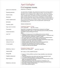 sle civil engineer resume 6 free sles exles format