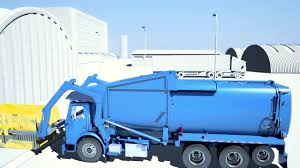 Garbage Truck With Front Loader Scale And Fleet Management Solution ...