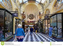 100 Victorian Period Architecture Australia People Shopping At Royal Arcade In Melbourne Editorial