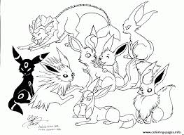 Eevee Pokemon Family Coloring Pages Print Download 265 Prints