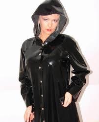 shiny black pvc raincoat pvc4fun pinterest