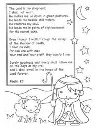 Lovely The Lord Is My Shepherd Coloring Page Part 7