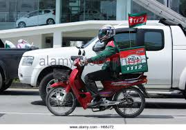 Pizza Delivery Bike Stock Photos