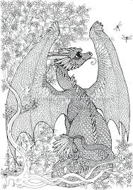 Dragon Coloring Pages For Adults Kids Free Printable Beautiful Page Print Detailed Realistic