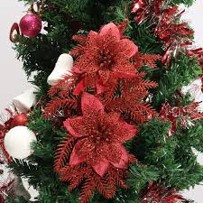 Automatic Christmas Tree Waterer Instructions by Glitter Artificial Christmas Tree Flowers Ornament Pendant Xmas