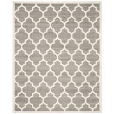 Safavieh Amherst Dark Gray Beige 9 ft x 12 ft Indoor Outdoor