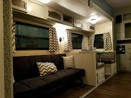 Camper Interior Decorating Ideas by Best 25 Travel Trailer Living Ideas On Pinterest Trailer