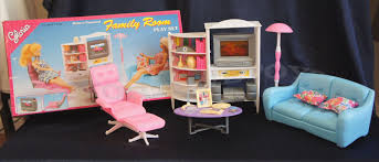 Barbie Living Room Furniture Set by Gloria Barbie Furniture Size Family Room W Sofa Playset Doll House