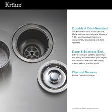 Kitchen Sink Stl Menu stainless steel kitchen sinks kraususa com