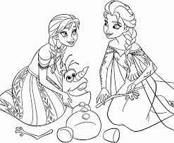 Print Disney Princess Coloring Pages Frozen Elsa New At 12 Free Printable Anna Olaf