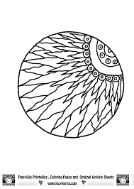 Coloring Pages Lucy Learns Free Sun Mandala Art