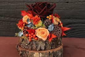Rustic Autumn Wedding Cake Topper Woodland Fall Decoration