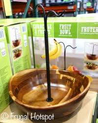 The Gorgeous Acacia Wood Fruit Bowl With Banana Hook Can Be Found At Costco For A Limited Find This Pin And More On Kitchen
