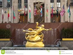 Rockefeller Plaza Christmas Tree Location by Statue Of Prometheus Under Rockefeller Center Christmas Tree At