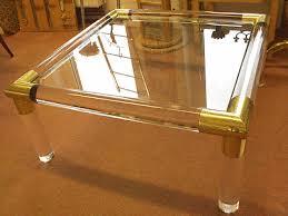 couchtisch messingtisch wohnzimmertisch glas acryl messing
