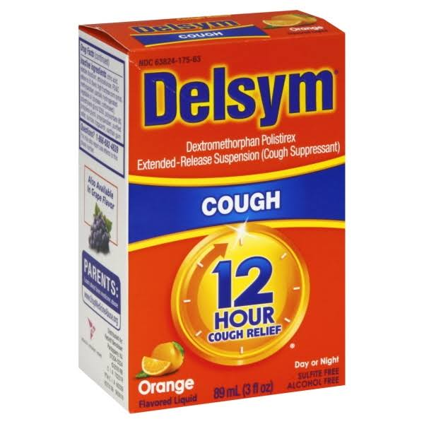 Delsym Cough Suppressant - Orange, 89ml