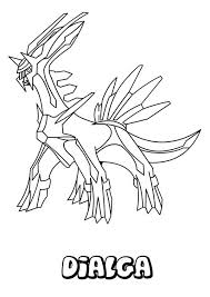 Legendary Pokemon Coloring Pages Dialga