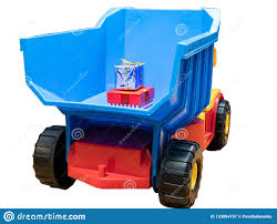 100 Big Toy Dump Truck With Small Gift Boxes In Body Stock Image Image Of
