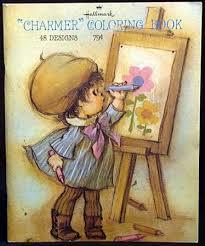 Vintage Hallmark Charmer Picture Coloring By Vintagejustforyou Still Have Thiskeepsake Of Me
