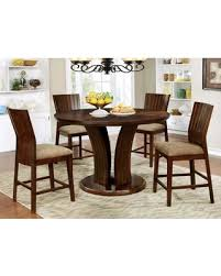 Montreal II Collection CM3711RPT4PC 5 Piece Dining Room Set With Round Counter Height Table And