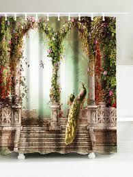 Curtain Materials In Sri Lanka by Peacock Water Resistant Fabric Bathroom Shower Curtain