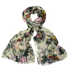 monroe scarves womens scarves womens beautiful cream floral scarf