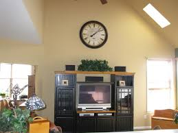 decorating ideas for tops of entertainment centers with high
