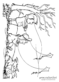 Lets Go Fly A Kite Coloring Page
