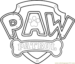 Coloring Pages Paw Patrol PAW Free From