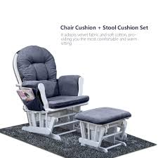 Details About Soft Cotton Chair Cushion & Stool Pad Set For Rocker Rocking  Chair Home Office