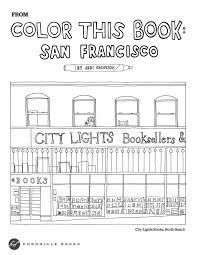 Color This Book San Francisco Abbi Jacobsons Adult Coloring Printout