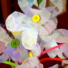 Contact Paper Tissue Flowers
