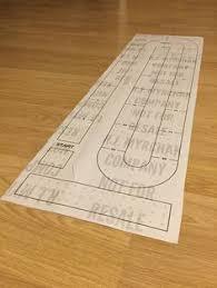 Large Cribbage Board Hole Pattern Paper Template Digital Download Cribbageboard Cribbagetable