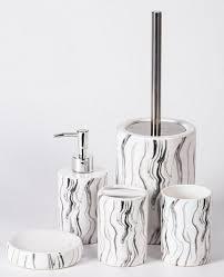 zellerfeld badezimmer set trendmax marmor badezimmer set luxus badezimmer accessoires stolvolle toiletten set elegante seifenspender in