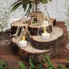 Weddings Autumn Wedding Inspiration Lighted Centerpieces
