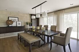 Beige Buffet Dining Room Contemporary With Floating Cabinet Semi