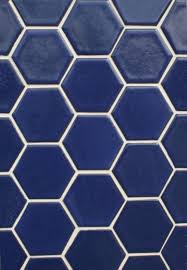 debris series recycled ceramic tile hexagon sapphire blue from