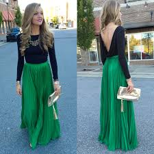 green pleated maxi skirt swoon swag pinterest pleated maxi