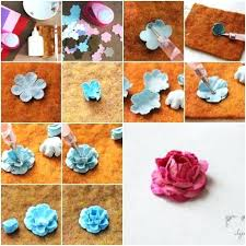 Paper Flowers Step By How To Make Made Of Tutorial