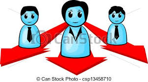 Three People Heading For The Same Direction Vector