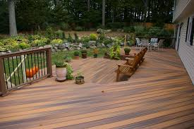 Fiberon Two Level Deck | Custom Decks Of Fairfield County ... Roof Covered Decks Porches Stunning Roof Over Deck Cost Timber Ultimate Building Guide Cstruction Design Types Backyard Deck Cost Large And Beautiful Photos Photo To Select Advice Average For A New Compare Build Permit Backyards Stupendous In Ideas Exterior Luxury Patio With Trex Decking Plus Designs Cheaper To Build Or And Patios Pictures Small Kits About For Yards Of Weindacom Budgeting Hgtv
