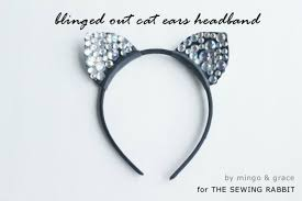 how to make cat ears blinged out cat ears headband diy the sewing rabbit