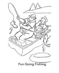 Fishing Boat Coloring Pages 4
