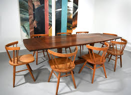 Early George Nakashima Walnut Conoid Dining Table With Rosewood Keys ... Nakashima Chair Couch Potato Company Chairs George Woodworkers Grass Seat At 1stdibs Nakashima Valuations Browse Auction Results Meartocom Designer Fniture Own The Original Wyeth For Sale Value Id F Medrermainfo Trestle Ding Table Converso Captain39s By At White Building Some Inspired Shop Update October 30 Room 21 Custom Style By Greg Pilotti Maker Orge Nakashima 051990 A Walnut Ding Table With Ten