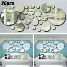 details zu runde spiegel aufkleber wandaufkleber kunst dekoration wohnzimmer schlafzimmer