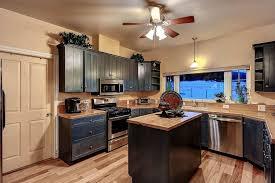 Eclectic Kitchen With Ceiling Fan Pendant Light Hardwood Floors Hampton Bay Westmount 44